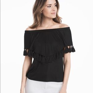 White House Black Market Off the Shoulder Top NWT